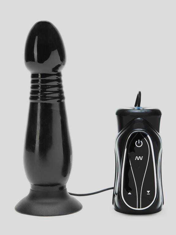 Booty Blaster 10 Function Thrusting Vibrating Butt Plug, Black, hi-res