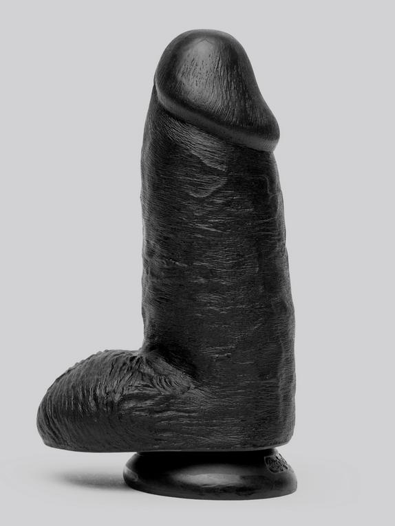 Consolador Negro Extra Grueso 17,5 cm con Ventosa de King Cock, Negro , hi-res