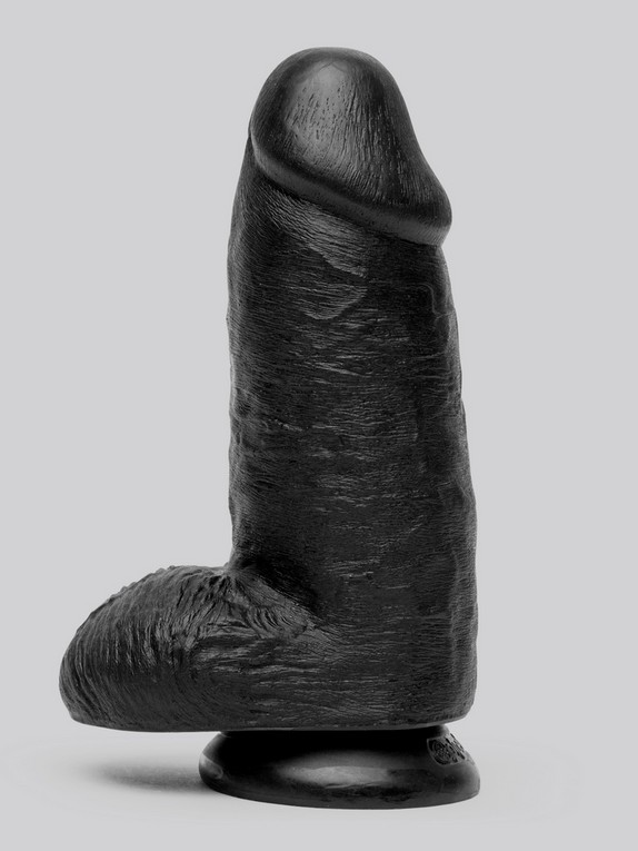 King Cock Mega Chubby Realistic Black Suction Cup Dildo 7 Inch, Black, hi-res