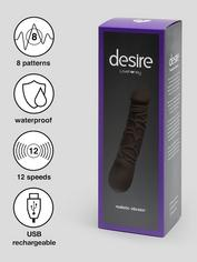 Desire Luxury Rechargeable Realistic Dildo Vibrator 6.5 Inch, Black, hi-res