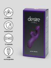 Desire Luxury Rechargeable G-Kiss G-Spot and Clitoral Vibrator, Purple, hi-res