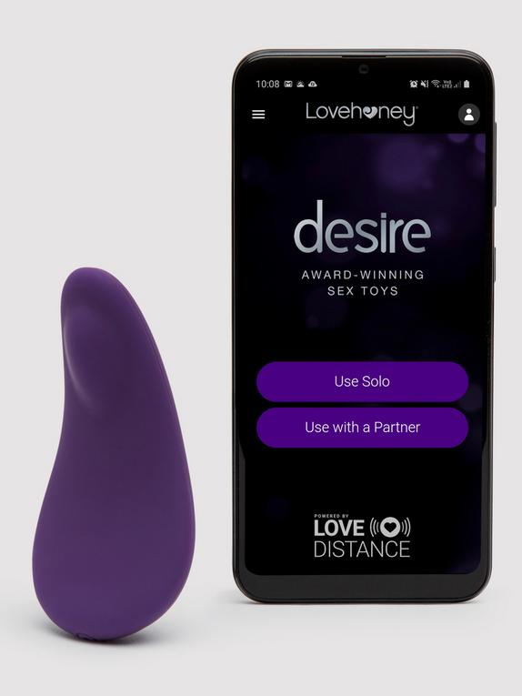 Desire Luxury App Controlled Rechargeable Knicker Vibrator, Purple, hi-res