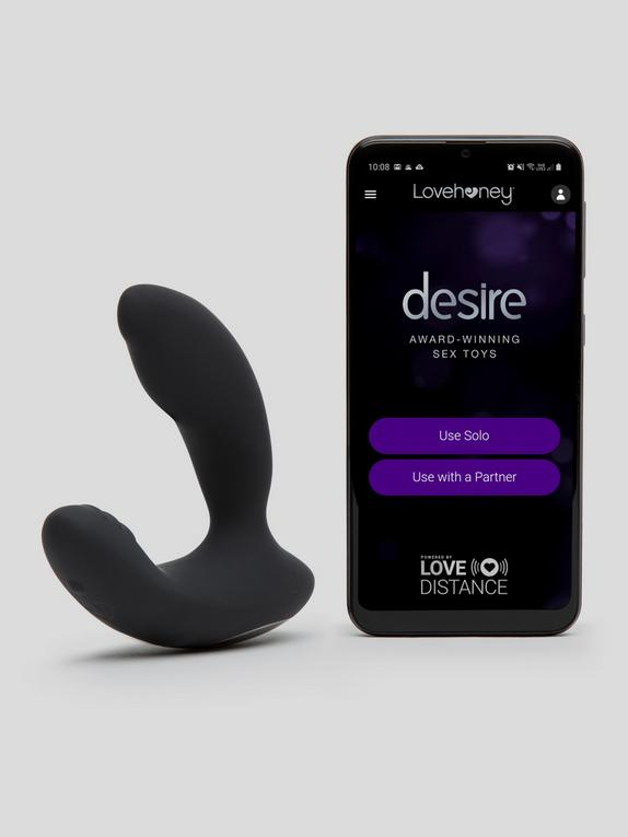 Desire Luxury App Controlled Rechargeable Prostate Vibrator, Black, hi-res
