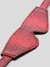 Bondage Boutique Faux Snakeskin Blindfold, Red, hi-res