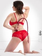 Bondage Boutique Faux Snakeskin Whip, Red, hi-res
