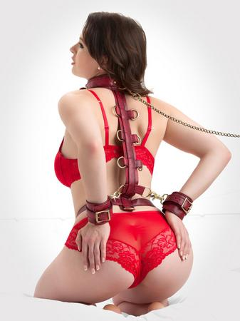 Bondage Boutique Faux Snakeskin Restraint Harness
