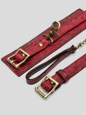 Bondage Boutique Faux Snakeskin Restraint Harness, Red, hi-res