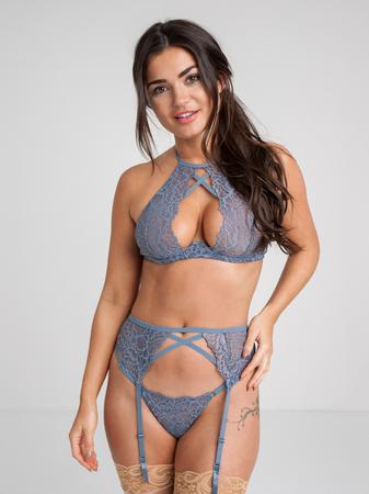 Lovehoney Grey Shimmering Underwired Bra Set
