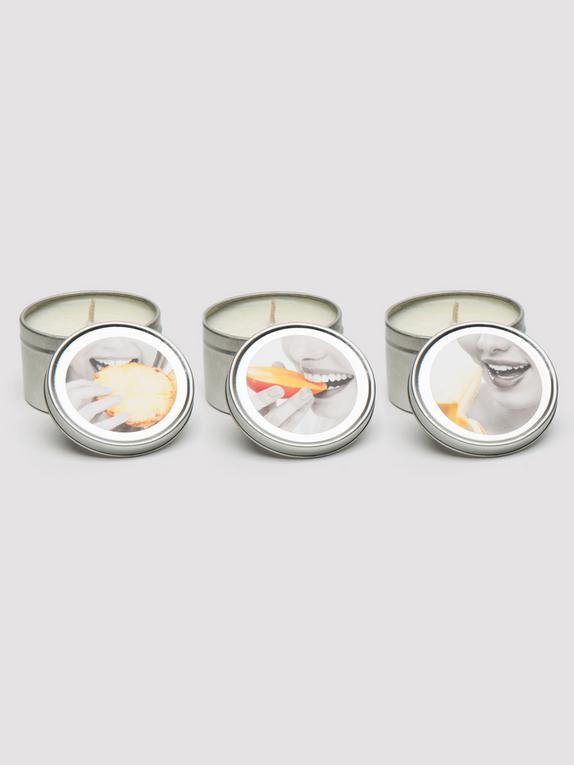 Earthly Body Tropical Trio Massage Candle Set (3 x 57g), , hi-res