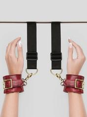 Bondage Boutique Faux Snakeskin Over-the-Door Cuffs, Red, hi-res