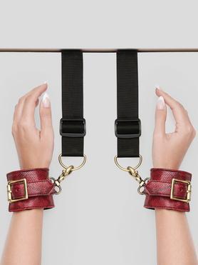 Contraintes de position pour porte motif peau de serpent, Bondage Boutique