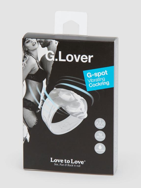 G-Lover Vibrating Cock Ring for G-Spot Stimulation, Clear, hi-res