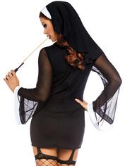 Leg Avenue Black Naughty Nun Set, Black, hi-res