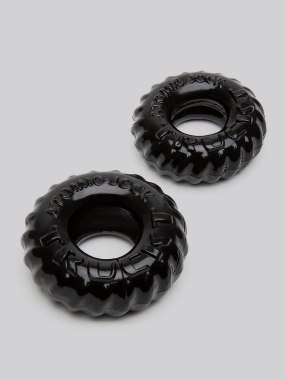 Oxballs Cock Ring and Ball Ring Set (2 Count), Black, hi-res