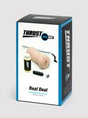THRUST Pro Mini Real Deal Self-Lubricating Male Masturbator Kit 9.7oz, Flesh Pink, hi-res