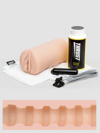 THRUST Pro Mini Overdrive Self-Lubricating Male Masturbator Kit 9.1oz