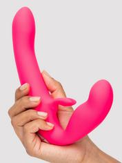 Happy Rabbit Rechargeable Vibrating Strapless Strap-On, Pink, hi-res