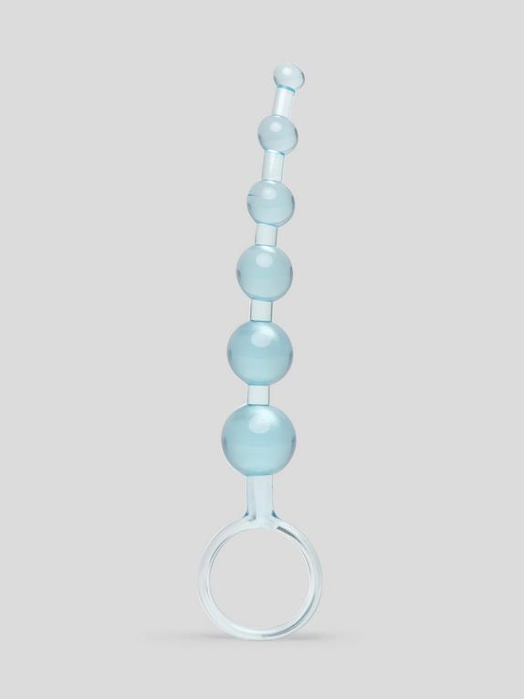 BASICS Anal Beads 6 Inch, Blue, hi-res