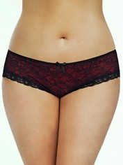 Oh La La Cheri Red and Black Cage-Back Panties, Black, hi-res