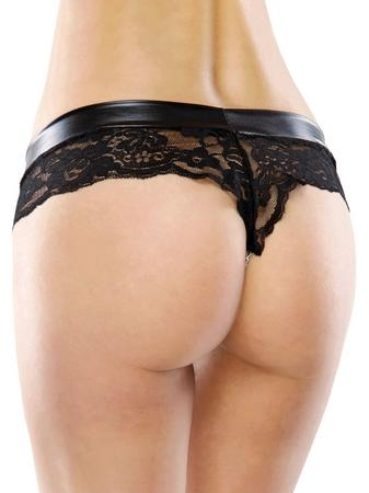 Coquette Darque Plus Size Stimulating Chain Panties