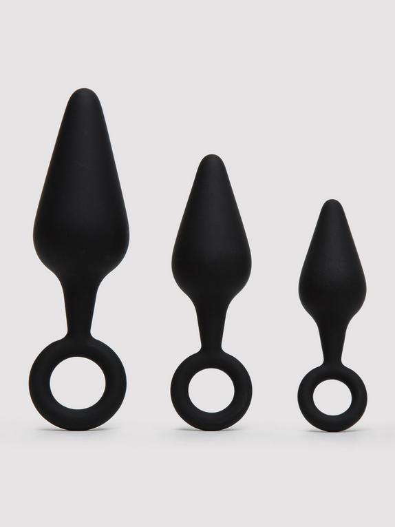 Lovehoney Rump Workout Butt Plug Training Set, Black, hi-res