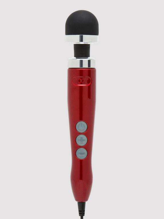Doxy Number 3 Candy Extra Powerful Travel Massage Wand Vibrator, Red, hi-res