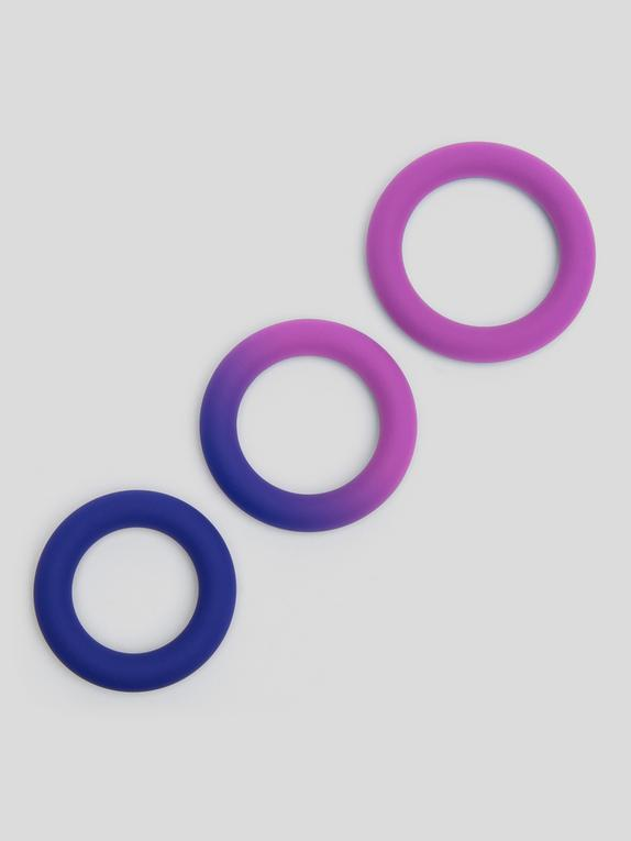Lovehoney Colorplay Color-Changing Silicone Cock Ring Set (3 Count), Blue, hi-res