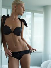 Spareparts Hardwear Black Sasha Strap-On Harness Briefs, Black, hi-res