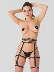 DOMINIX Deluxe Leather Leg Harness, Black, hi-res