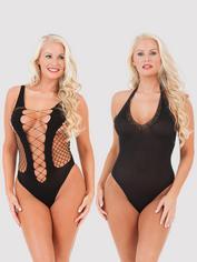 Lovehoney One Size Sexy Lingerie Kit (12 Piece), Black, hi-res