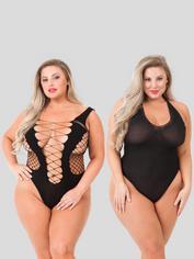 Lovehoney Queen Size Sexy Lingerie Kit (12 Piece), Black, hi-res