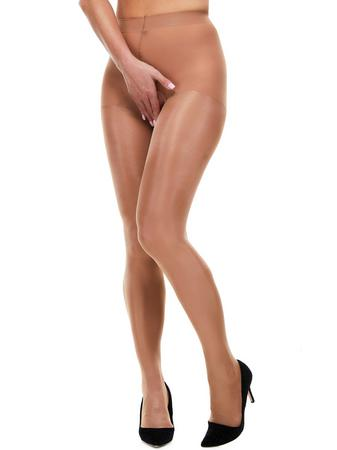 Miss Naughty Gold Metallic Shine Crotchless Tights