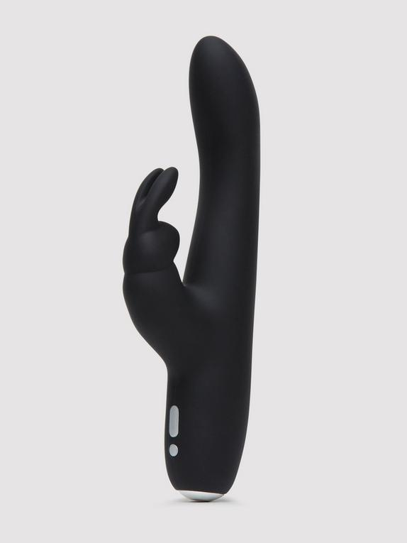 Fifty Shades of Grey Greedy Girl Rechargeable Slimline Rabbit Vibrator, Black, hi-res
