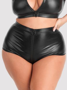 Lovehoney Plus Size Fierce Wet Look High-Waisted Knickers