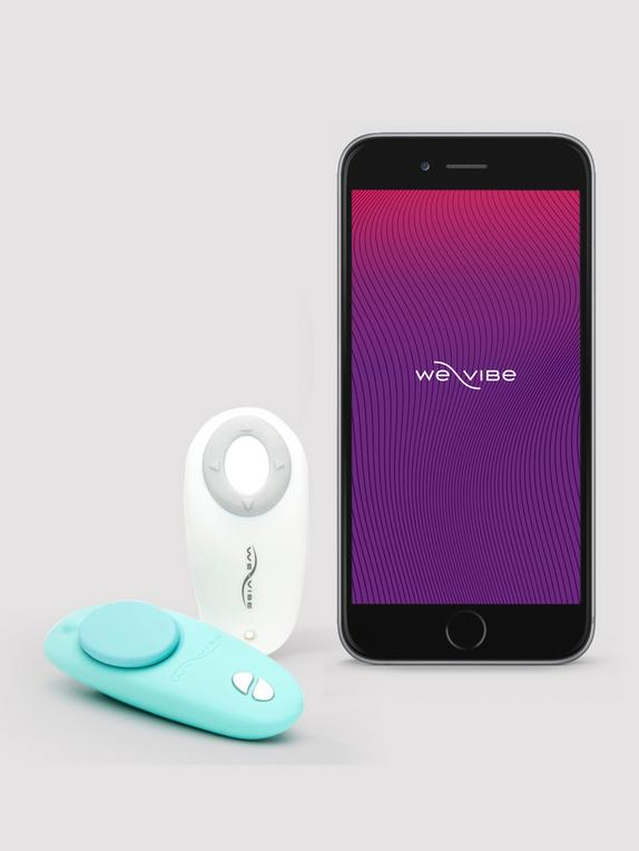 We-Vibe Moxie App and Remote Controlled Wearable Clitoral Knicker Vibrator, Blue, hi-res