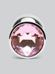 Lovehoney Jeweled Metal Beginner's Butt Plug 2.5 Inch, Pink, hi-res