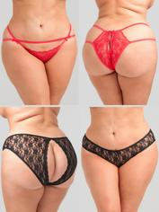 Lovehoney Plus Size Nights of the Week Knickers Gift Set (7 Piece), Black, hi-res