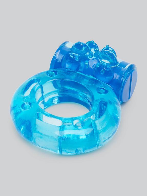 Lovehoney Boost Mega Vibrating Love Ring, Blue, hi-res