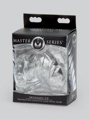 Master Series Detained 2.0 Soft Chastity Cage with Nubs, Clear, hi-res