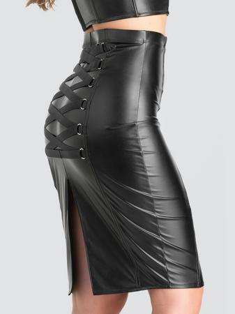 Lovehoney Fierce Black Leather-Look Skirt