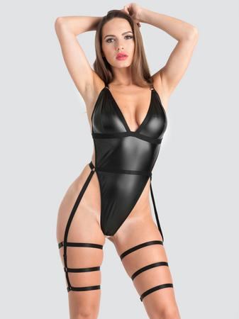 Lovehoney Fierce Wet Look Leg Harness Teddy
