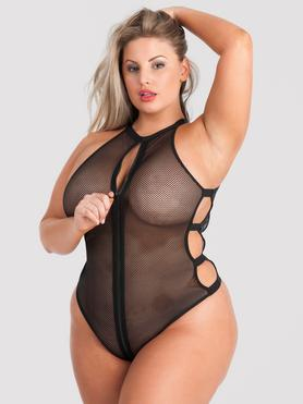 Lovehoney Plus Size Fierce Black High Neck Fishnet Body