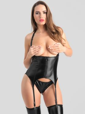 Lovehoney Fierce Wet Look Underbust Bustier Set