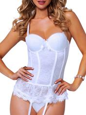 Seven 'til Midnight Blue Underwired Lace Bustier, White, hi-res
