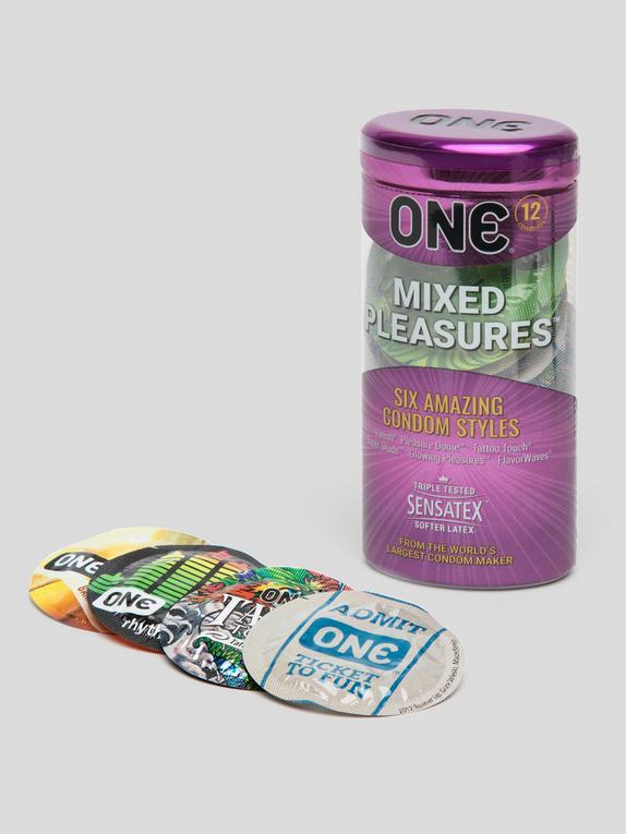 ONE Mixed Pleasures Condoms (12 Pack), , hi-res