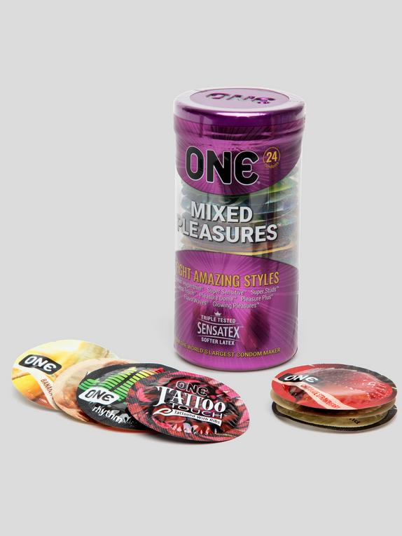 ONE Mixed Pleasures Condoms (24 Pack), , hi-res