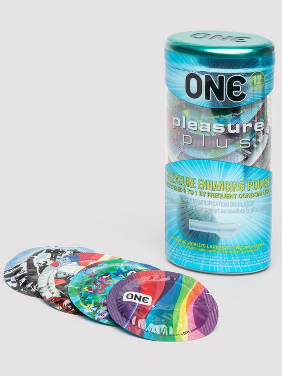 ONE Pleasure Plus Condoms (12 Count) , , hi-res