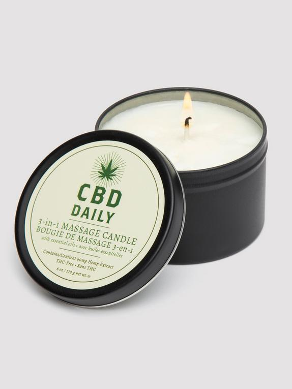 CBD Daily Massage Candle 6oz, , hi-res