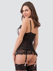 Ensemble guêpière push up string ficelle Boudoir Belle cerise, Lovehoney, Rose, hi-res