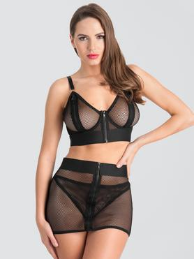 Lovehoney Fierce Fishnet Bra and Skirt Set